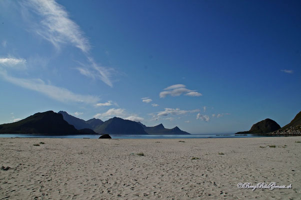 Genialer Sandstrand in Haukland