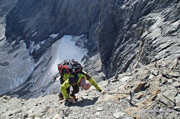 Erneuter Abstieg ins Drahtseilfurggeli