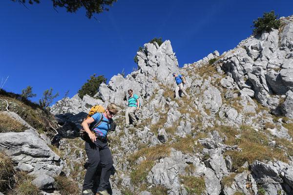Im Abstieg vom Haggenspitz