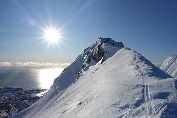 Gipfel des Varden in greifbarer Nähe