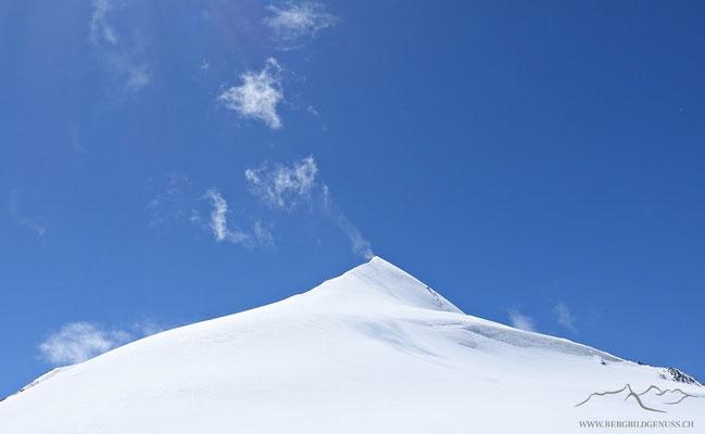 Rimpfisch von der anderen Seite...wobei der Gipfel nicht sichtbar ist. Der Grat von dieser Seite ist einiges anspruchsvoller zu klettern.