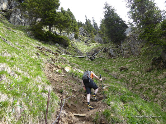 Steiler Weg zum Mittaggüpfi