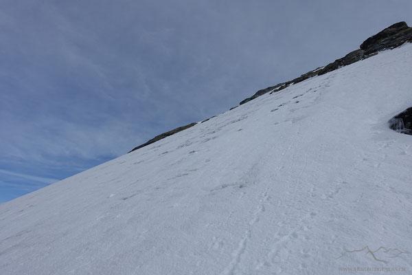 Steiler Aufstieg zur Roccia Nera