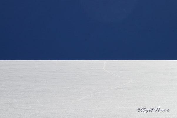 Gleissendes Gletscherweiss
