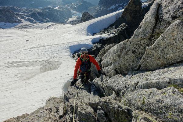 Klettern in fantastischem Fels - das macht Laune!