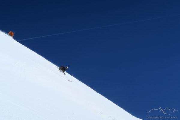 Steep - Abfahrt vom Alphubel