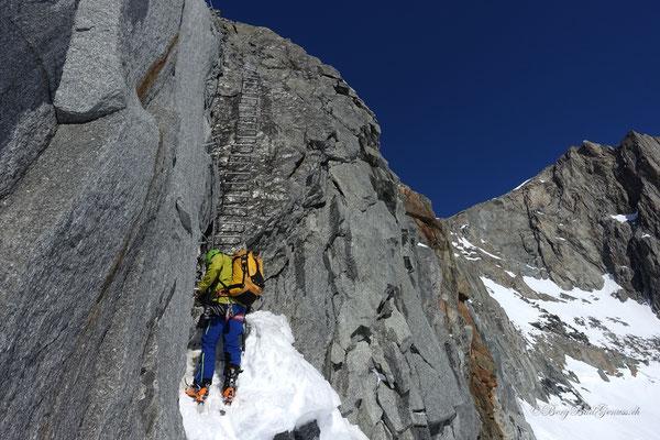 Im Einstieg zum Klettersteiglein