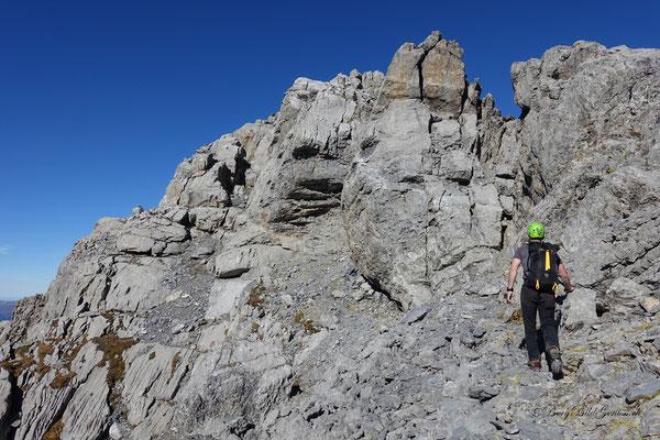 Querung unterhalb des Gipfels