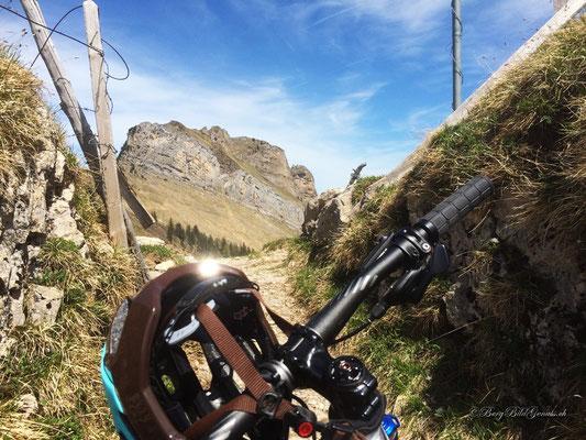 Auf dem Wannentritt, Sicht zum Planggstock