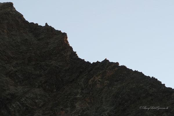 Bergsteiger am Grat zum Lagginhorn...für uns hat es heute nicht sollen sein.