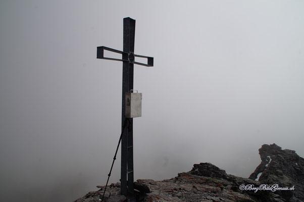 Gipfelkreuz Hausstock...schon beim letzten Mal hatten wir hier oben eher schlechte Aussicht