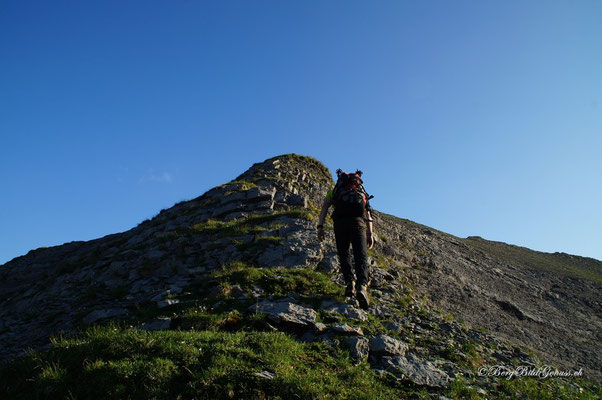 Bald am Gipfel