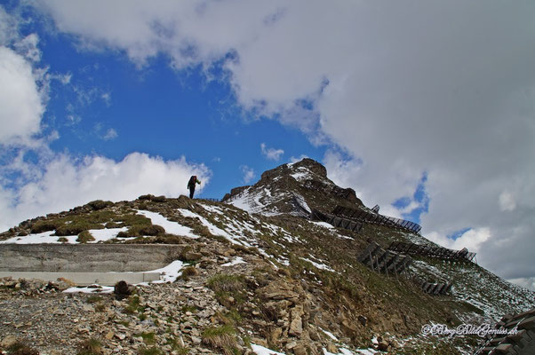 Gipfelaufbau Piz Clünas