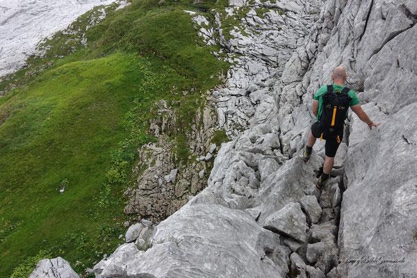 Abstieg über die Butzenwand