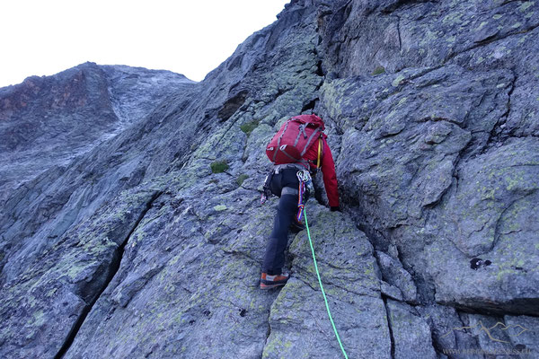 Erste Klettermeter...noch sind die Gliedmassen etwas träge..