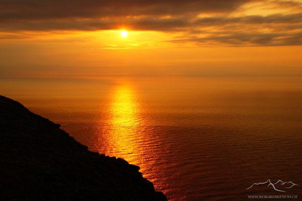 Sonnenuntergang am Nordkapp
