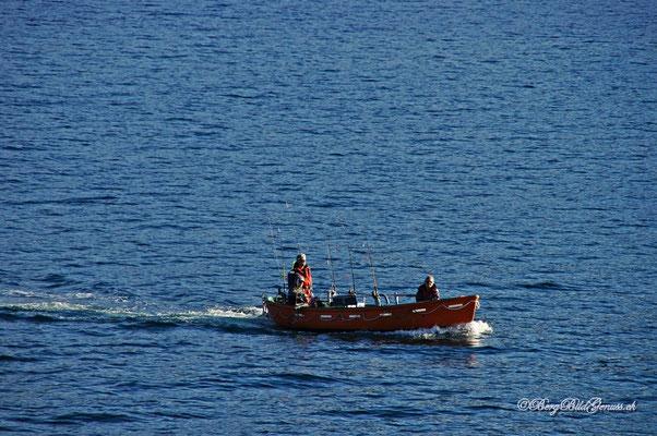 Bald haben wir das Festland erreicht...auch hier wird gefischt...