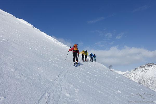 Im Aufstieg in Richtung Rundfjellet