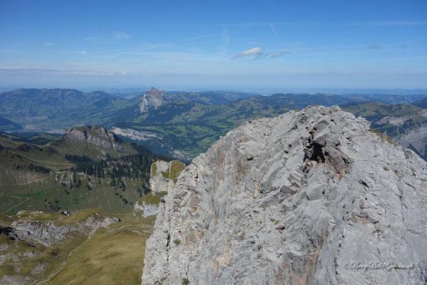 Blick rüber zum zweiten Gipfel