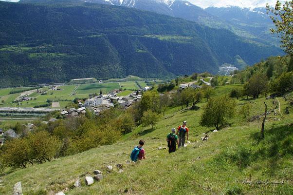 Abstieg nach Usserberg