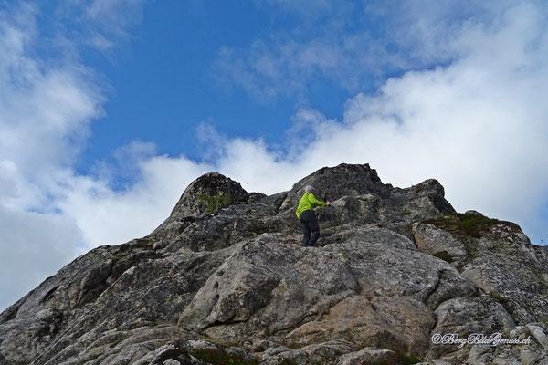 Gipfelaufbau Tjeldbergtinden