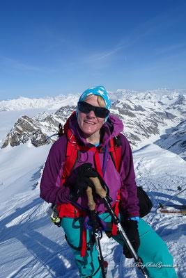 Gipfel erreicht - die Schnupfnase ist zufrieden!