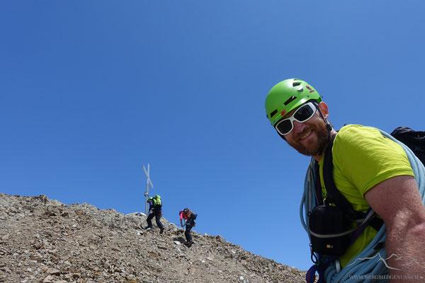 Letzte Meter vor dem Gipfel..