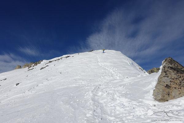 Letzte Höhenmeter zum Gipfel