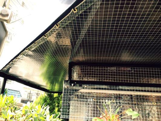 オープンテラステント+カーテン+上部塞ぎ