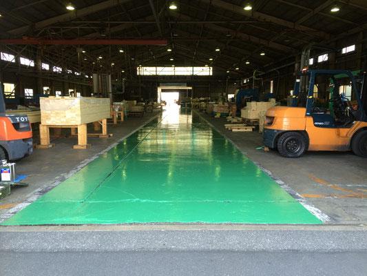工場内床塗工事(下地材+エポキシ塗料)