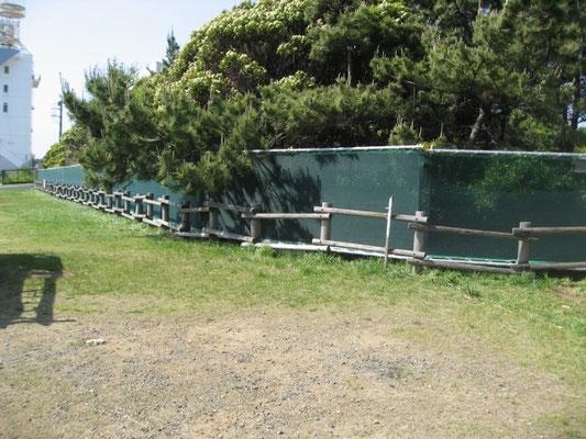 防風防砂ネット・計150m施工