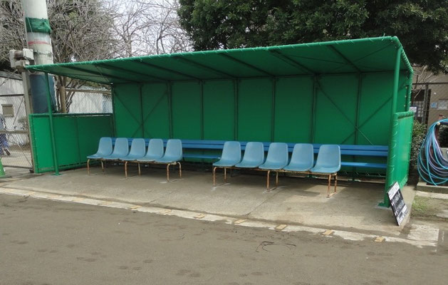 野球場ダックアウトテント