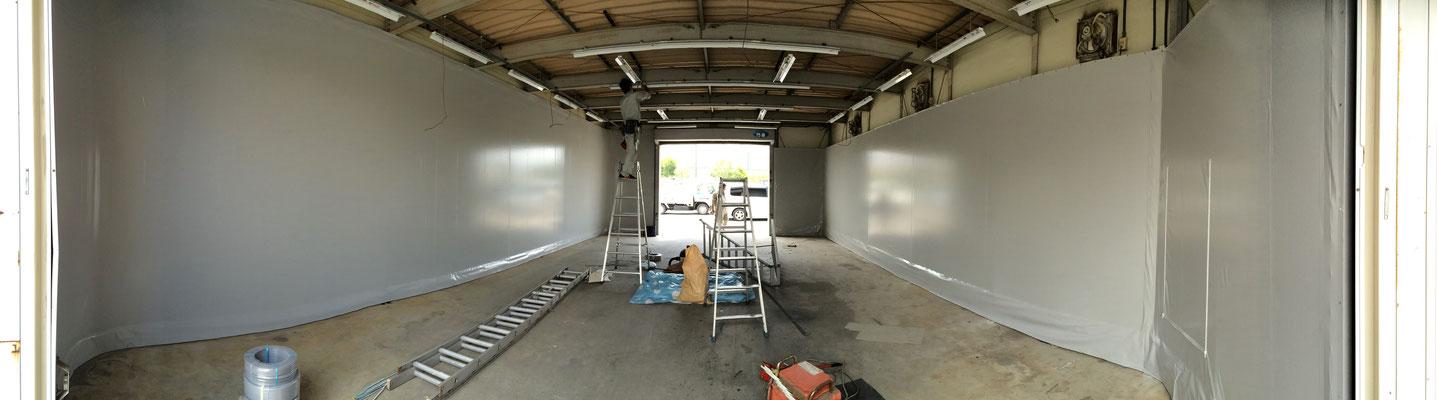 内壁造作テントパネル 鉄骨下地+ウルトラマックス