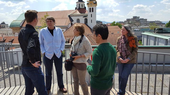 Gespräche mit slowenischen Lehrkräften und Schulleitungsmitgliedern. Foto Ulrichs