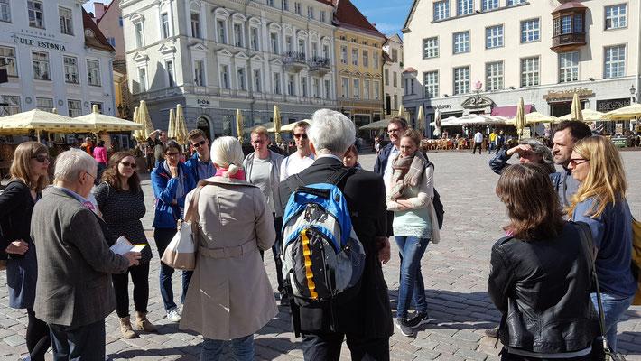 Stadtführung mit der Lehrerin Signe Rosenberg. Foto: Ulrichs