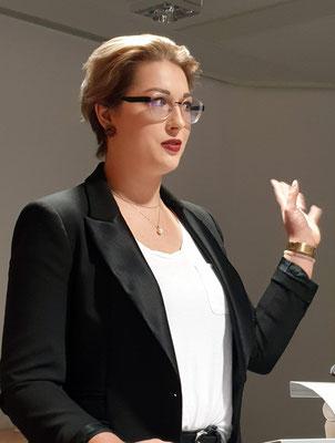 Hanna Krause sprach über den Homo sapiens referendarus. Foto: Ulrichs