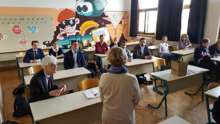 Informations- und Hospitationsbesuch am Gimnazija Bežigrad. Foto: Ulrichs