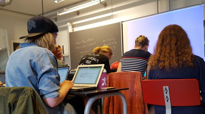 """Die """"digitale Schule"""" hat in Dänemark längst Einzug gehalten. Bild: Ulrichs"""