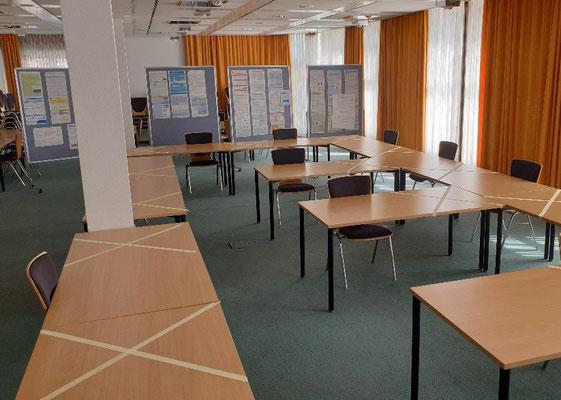 Der erste Seminarraum ist für Präsenzveranstaltungen freigegeben. Foto: Ulrichs