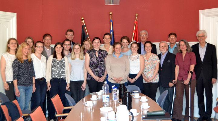 In der Deutschen Botschaft traf die Seminargruppe auf Kulturreferentin Sibylle Osten-Vaa. Bild: Deutsche Botschaft Kopenhagen