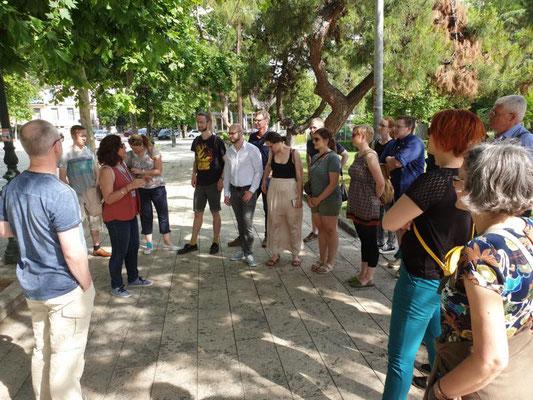 Regina Charalambidou führte die Gruppe durch die Stadt. Foto: Ulrichs