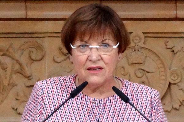 """Brunhild Kurth, Präsidentin der Kultusministerkonferenz, stellt klar: """"Wissen über sein Fachgebiet setzten wir bei dem Lehrer voraus."""" Foto: Ulrichs"""