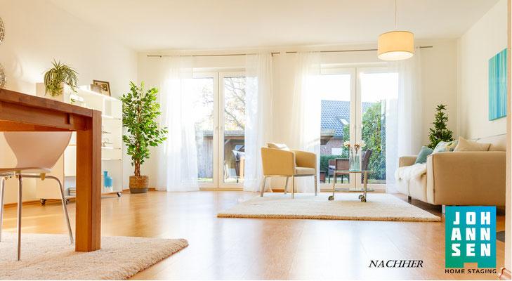 Home Staging Elena Johannsen Kiel Bad-Segeberg Schleswig-Holstein Raumgestaltung Wohnzimmer