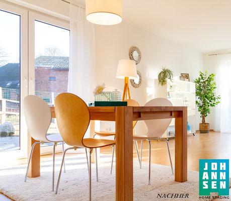 Home Staging Elena Johannsen Kiel Bad-Segeberg Schleswig-Holstein Raumgestaltung Essecke