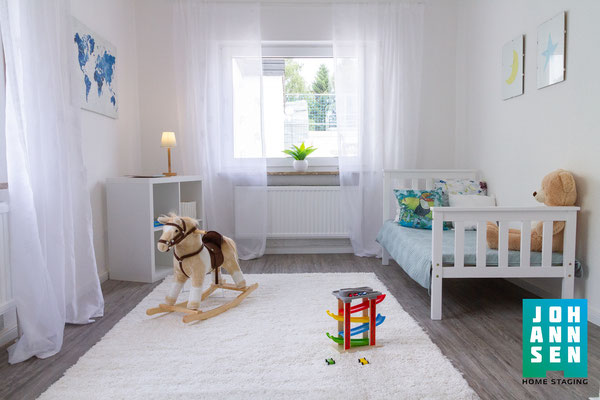 Home Staging Johannsen Elena Kiel Wohnungen Schleswig-Holstein Fotos Bilder Vorher Nachher Leere Immobilie Kinderzimmer