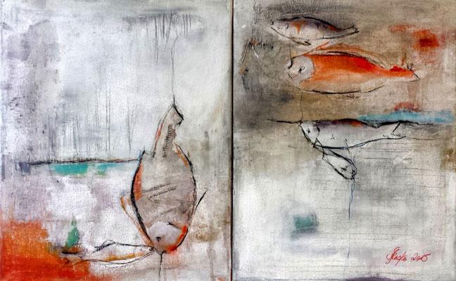 """""""Fischmarkt 2"""" - 2 x 40x50 cm"""