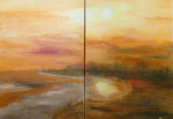 """""""Ein Blick zurück"""" - 2x 50x60 cm"""