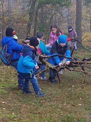 wir sammeln Altholz