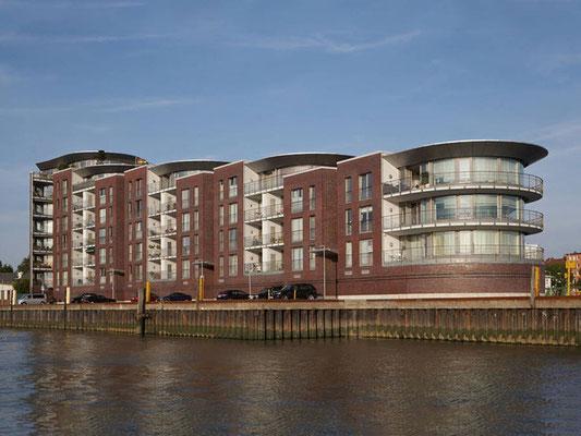 Referenz einer Fassadensanierung in Bremerhaven, Weserterrassen