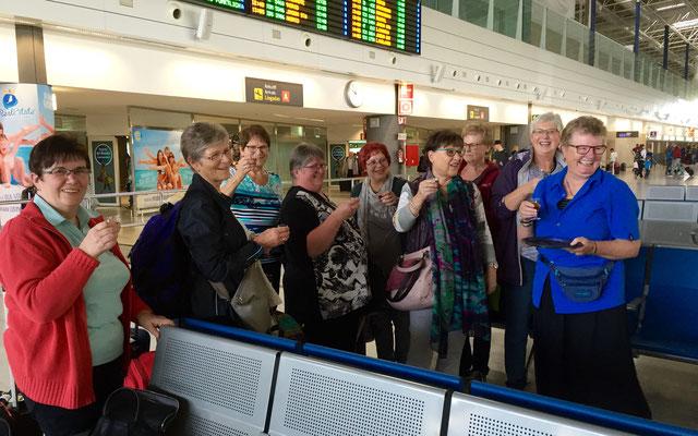 Ankunft im Flughafen in Puerto del Rosario